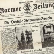 Faksimile der Barmer Zeitung aus dem Mai 1934
