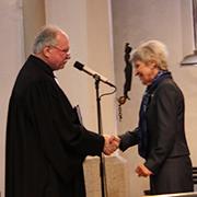 Superintendent Hitzbleck verabschiedet Oberbürgermeisterin Dagmar Mühlenfeld