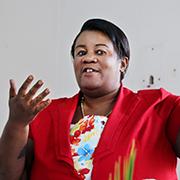Mwamini Chuma, Sozialarbeiterin des Mülheimer Partnerkirchenkreises