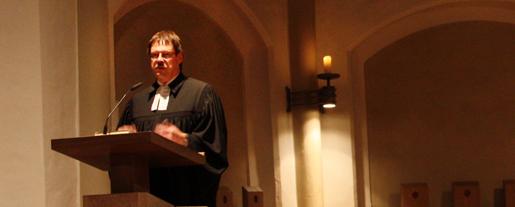 Oberkirchenrat Christoph Pistorius in der Petrikirche